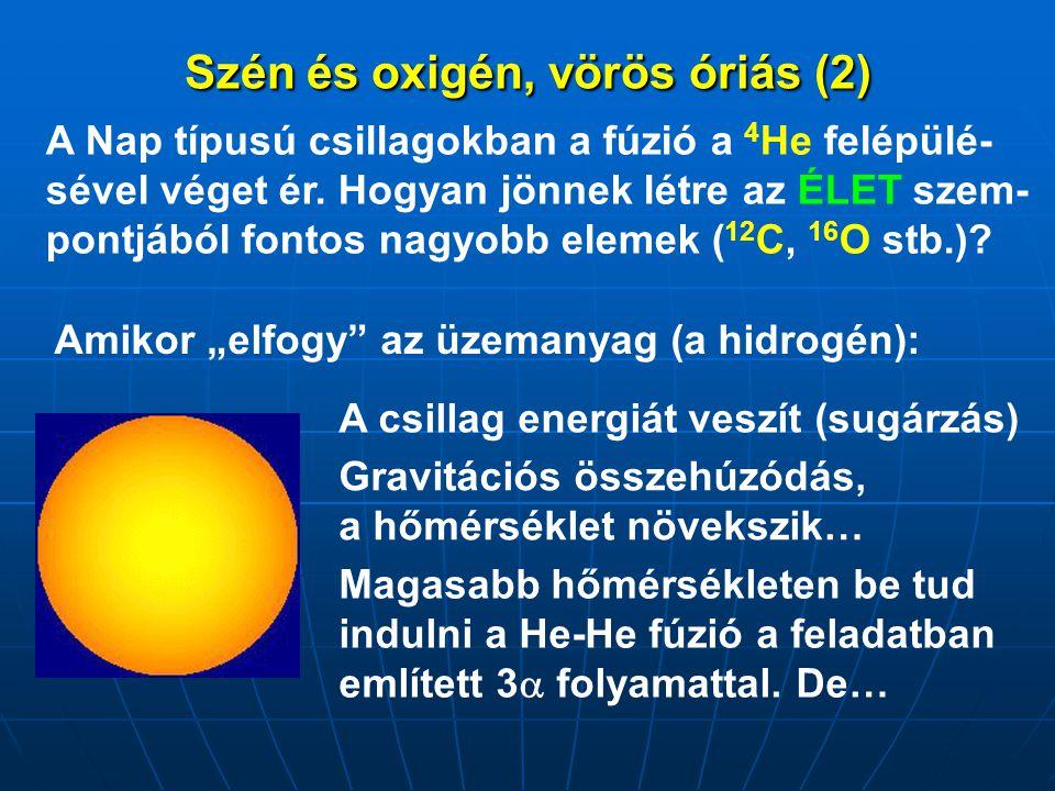 Szén és oxigén, vörös óriás (2)