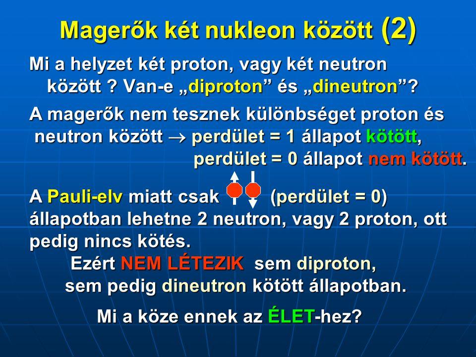 Magerők két nukleon között (2)