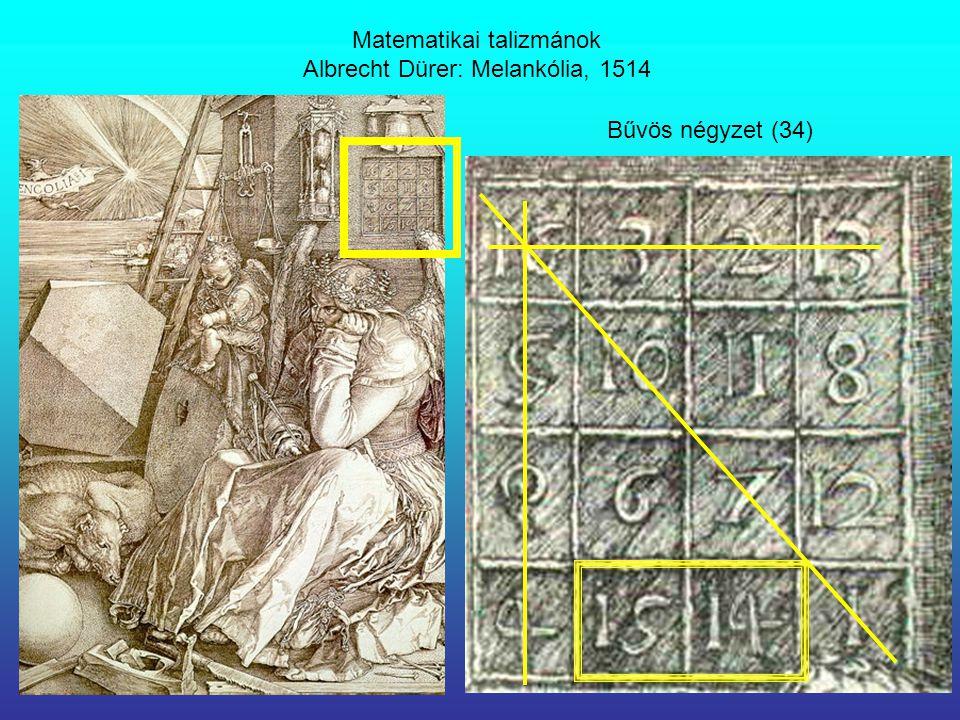 Matematikai talizmánok Albrecht Dürer: Melankólia, 1514