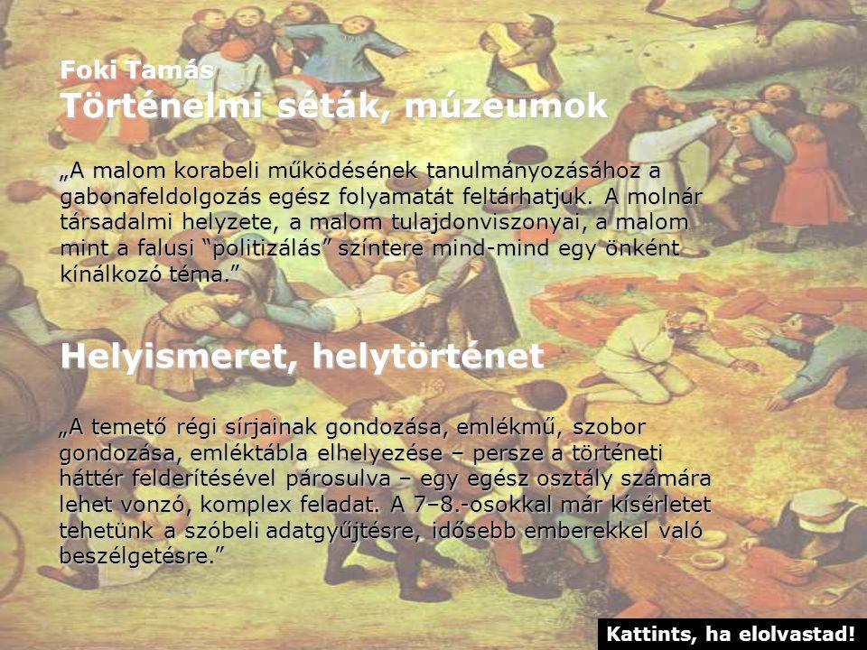 Történelmi séták, múzeumok