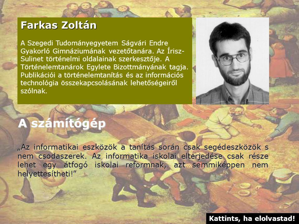 A számítógép Farkas Zoltán