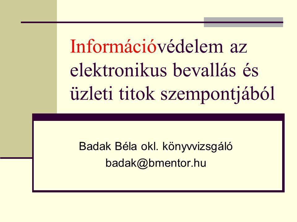 Badak Béla okl. könyvvizsgáló badak@bmentor.hu