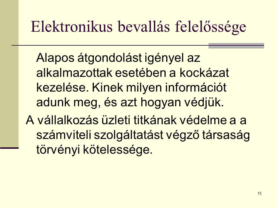 Elektronikus bevallás felelőssége