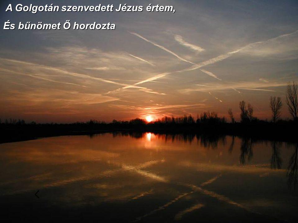A Golgotán szenvedett Jézus értem,