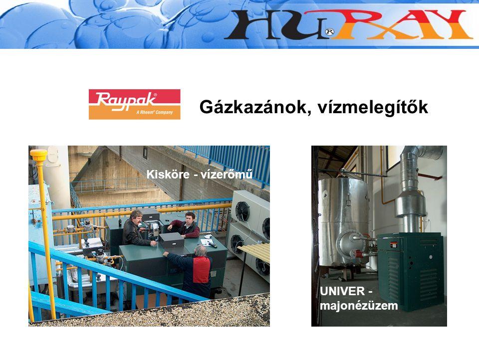 Gázkazánok, vízmelegítők