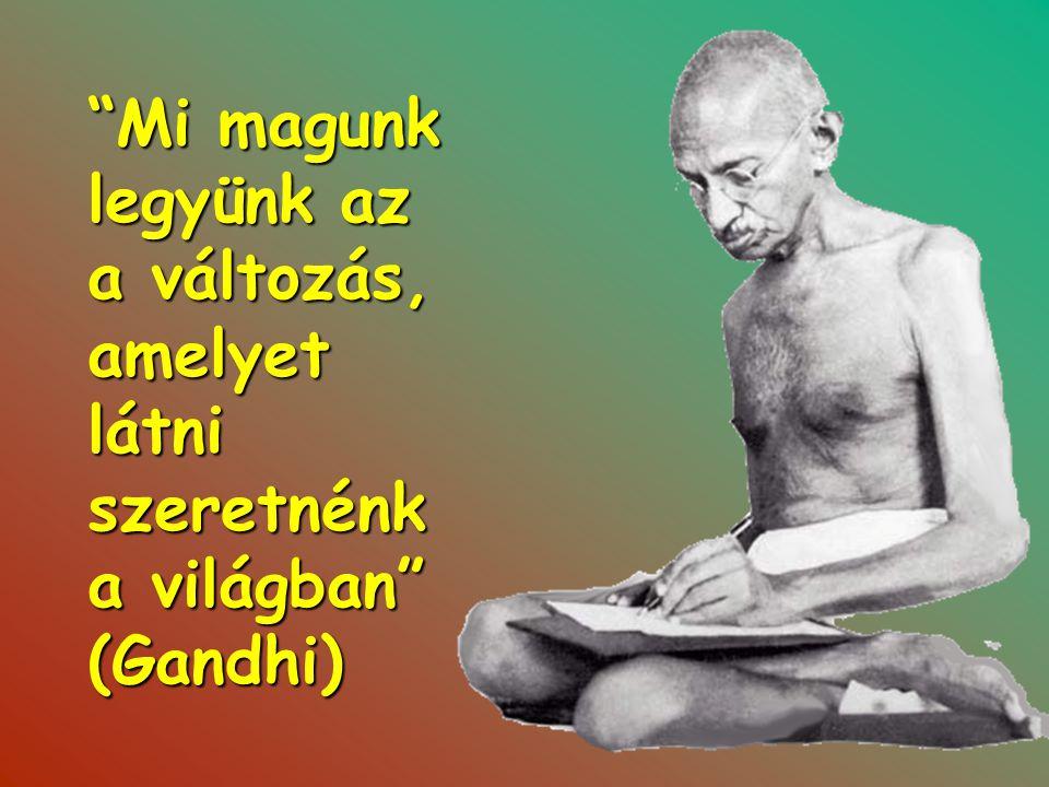 Mi magunk legyünk az a változás, amelyet látni szeretnénk a világban (Gandhi)