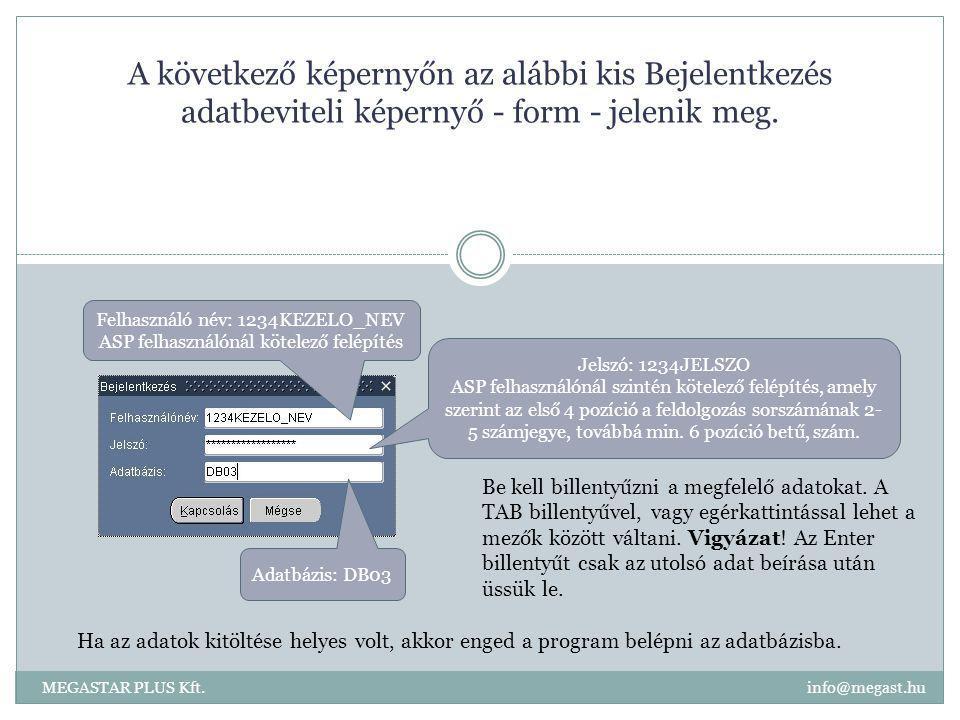 A következő képernyőn az alábbi kis Bejelentkezés adatbeviteli képernyő - form - jelenik meg.