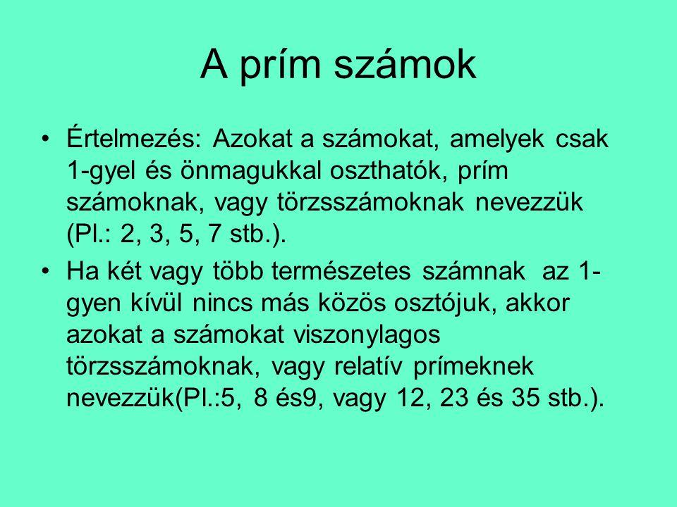 A prím számok