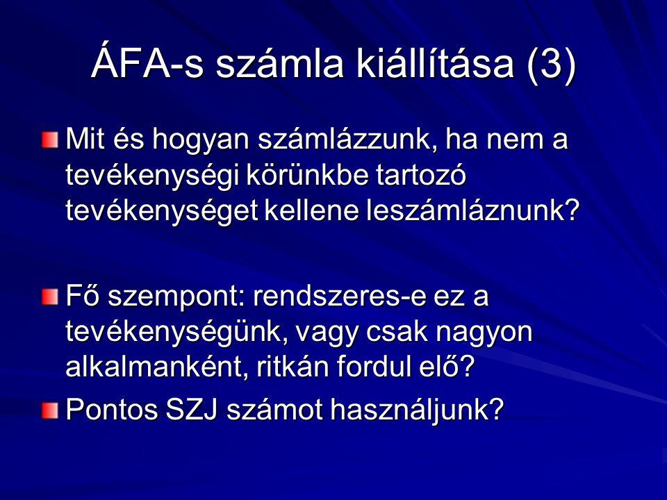ÁFA-s számla kiállítása (3)