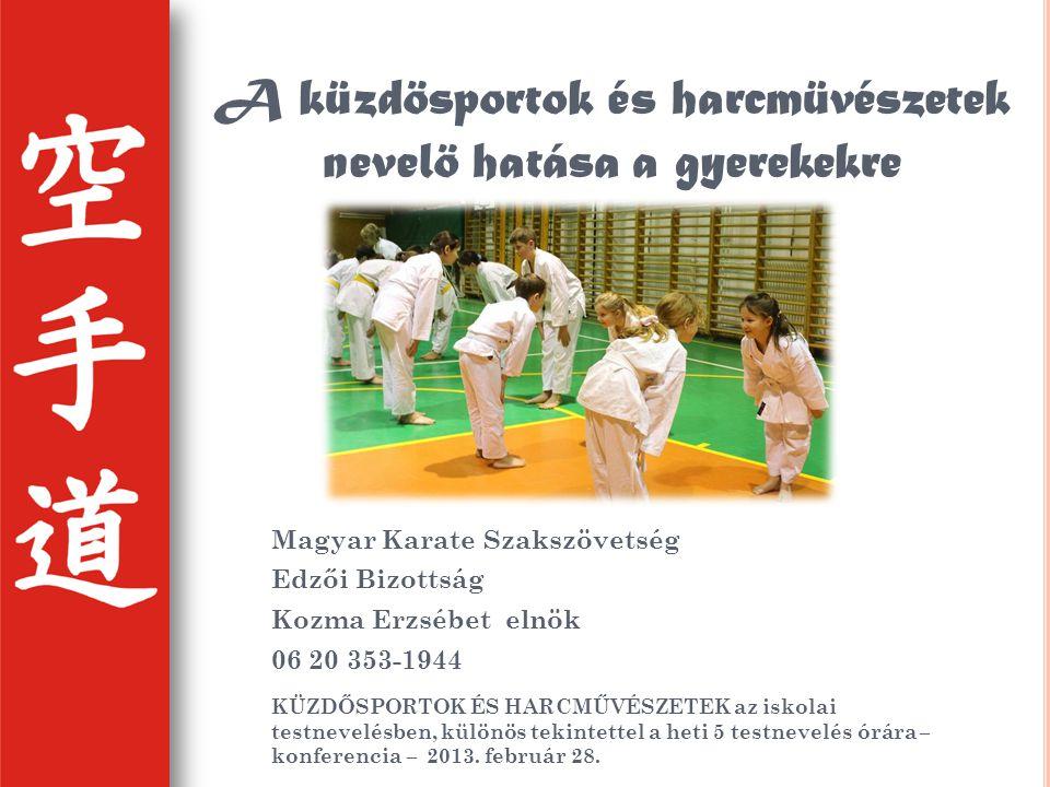 A küzdösportok és harcmüvészetek nevelö hatása a gyerekekre