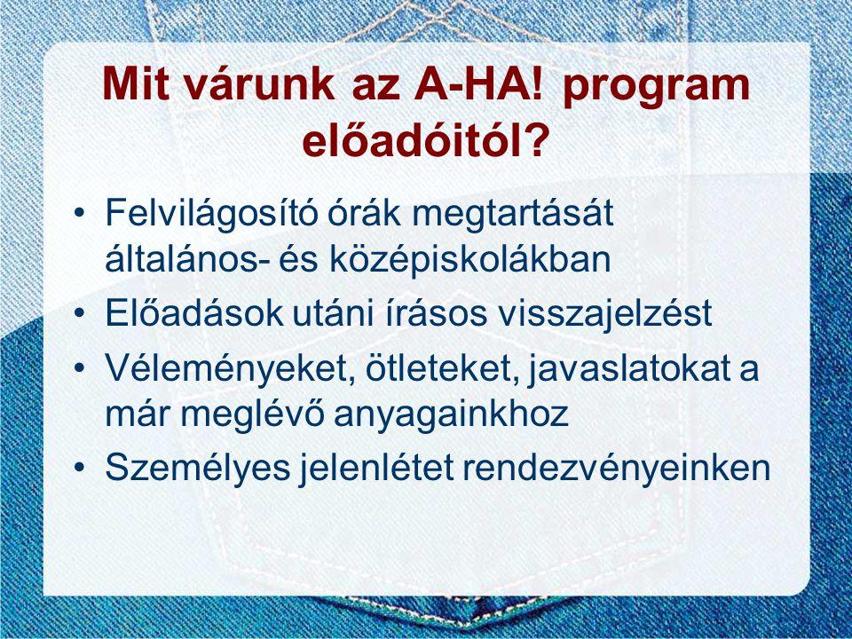 Mit várunk az A-HA! program előadóitól