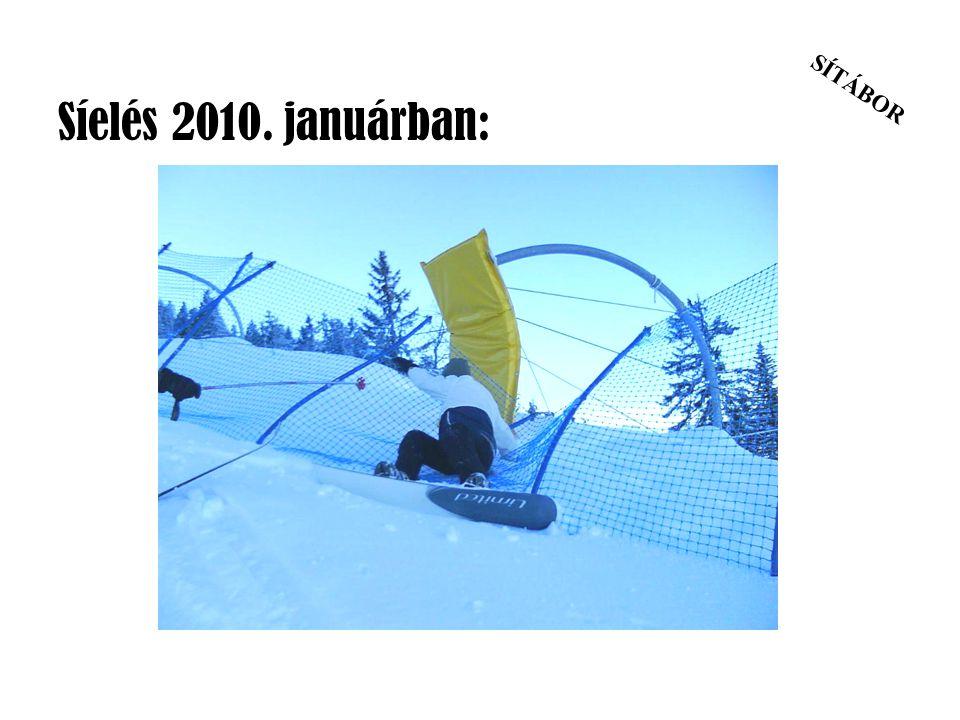 Síelés 2010. januárban: