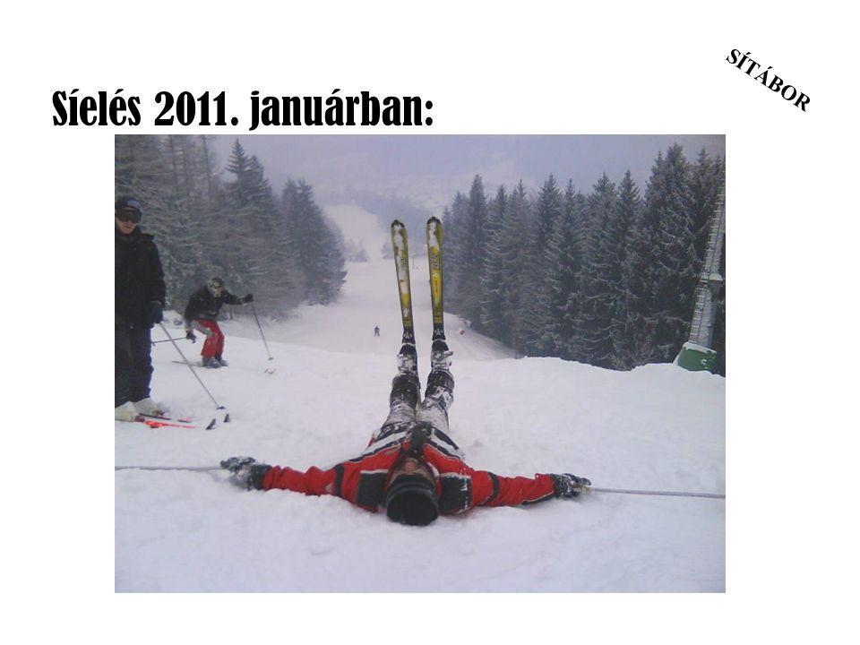 Síelés 2011. januárban: