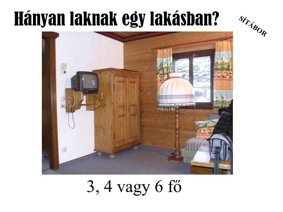 Hányan laknak egy lakásban
