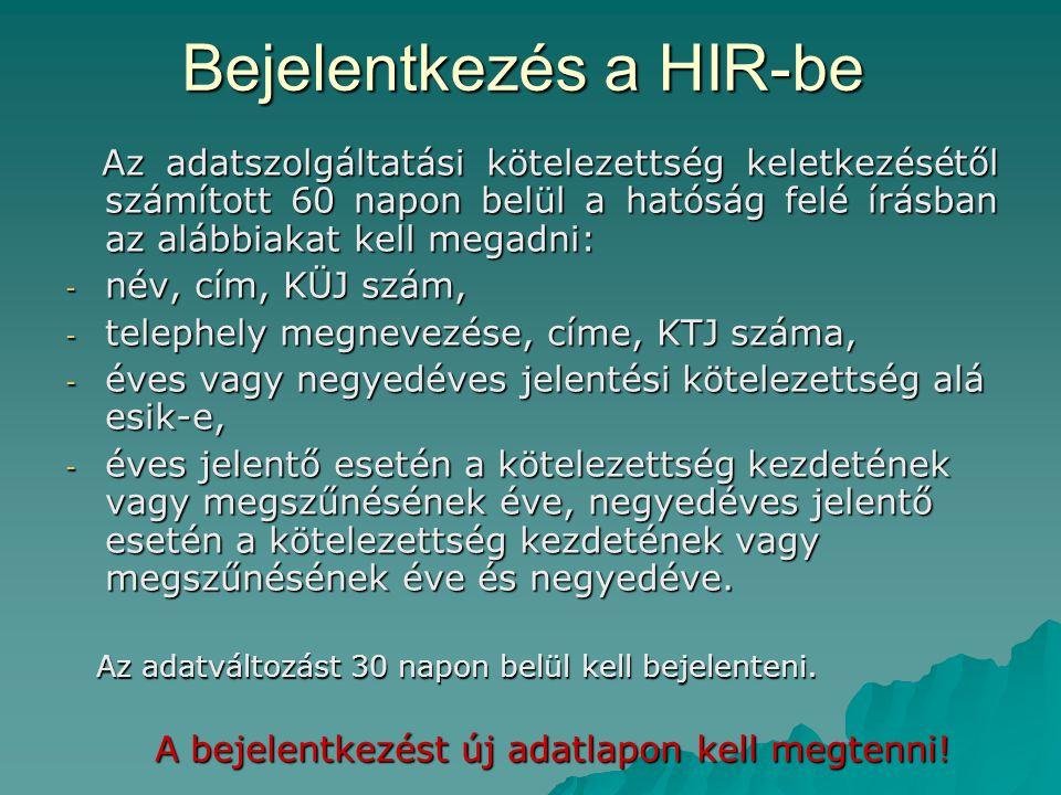 Bejelentkezés a HIR-be
