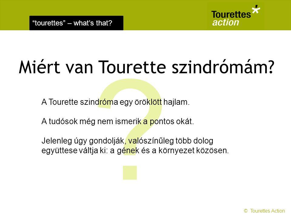 Miért van Tourette szindrómám