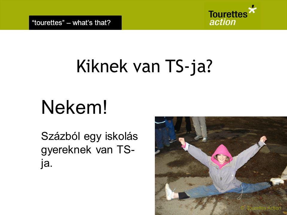 Nekem! Kiknek van TS-ja Százból egy iskolás gyereknek van TS-ja.