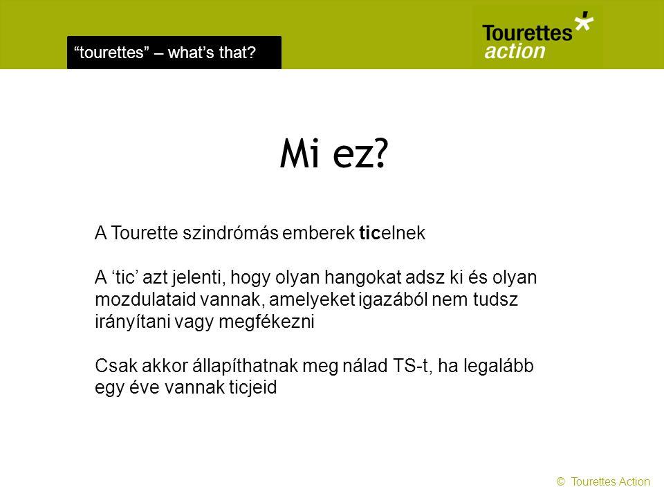 Mi ez A Tourette szindrómás emberek ticelnek
