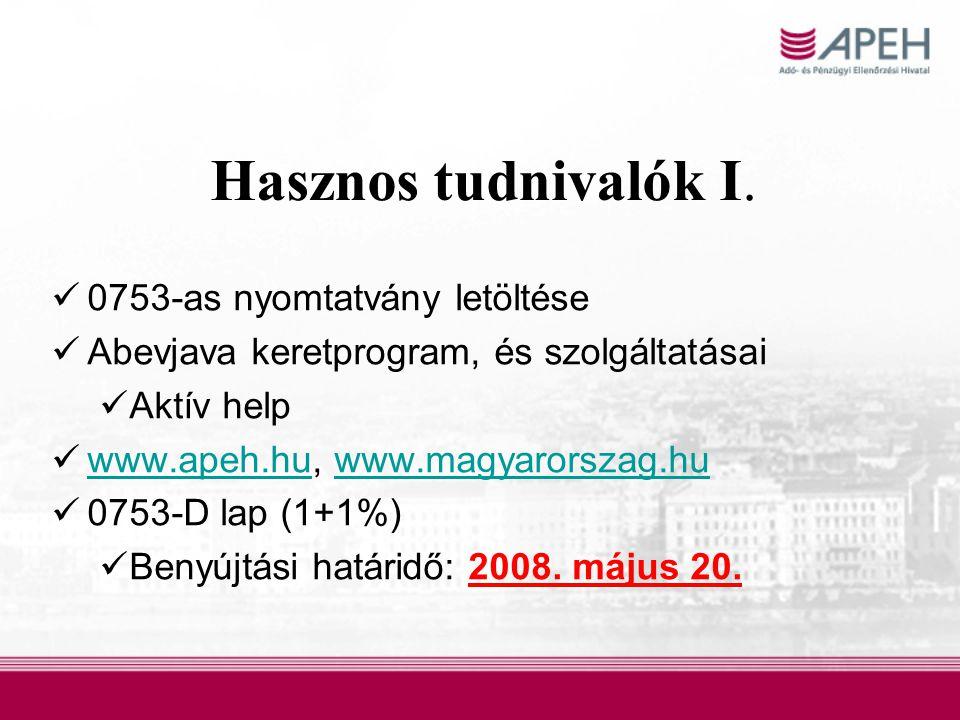 Hasznos tudnivalók I. 0753-as nyomtatvány letöltése