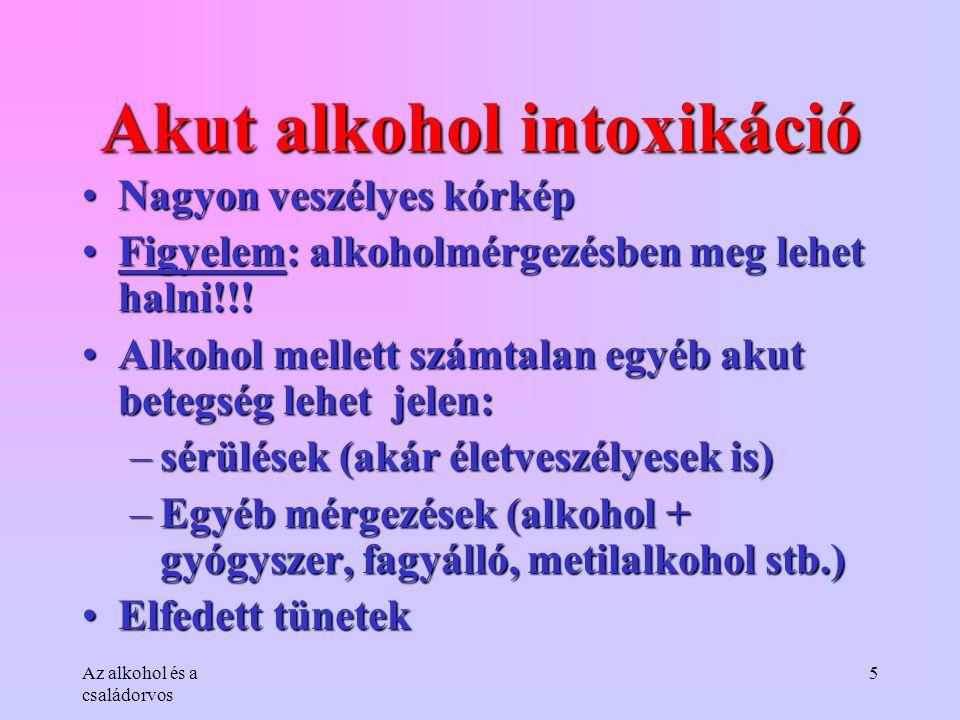Akut alkohol intoxikáció