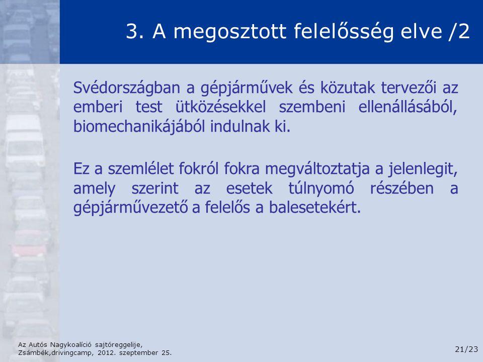 3. A megosztott felelősség elve /2