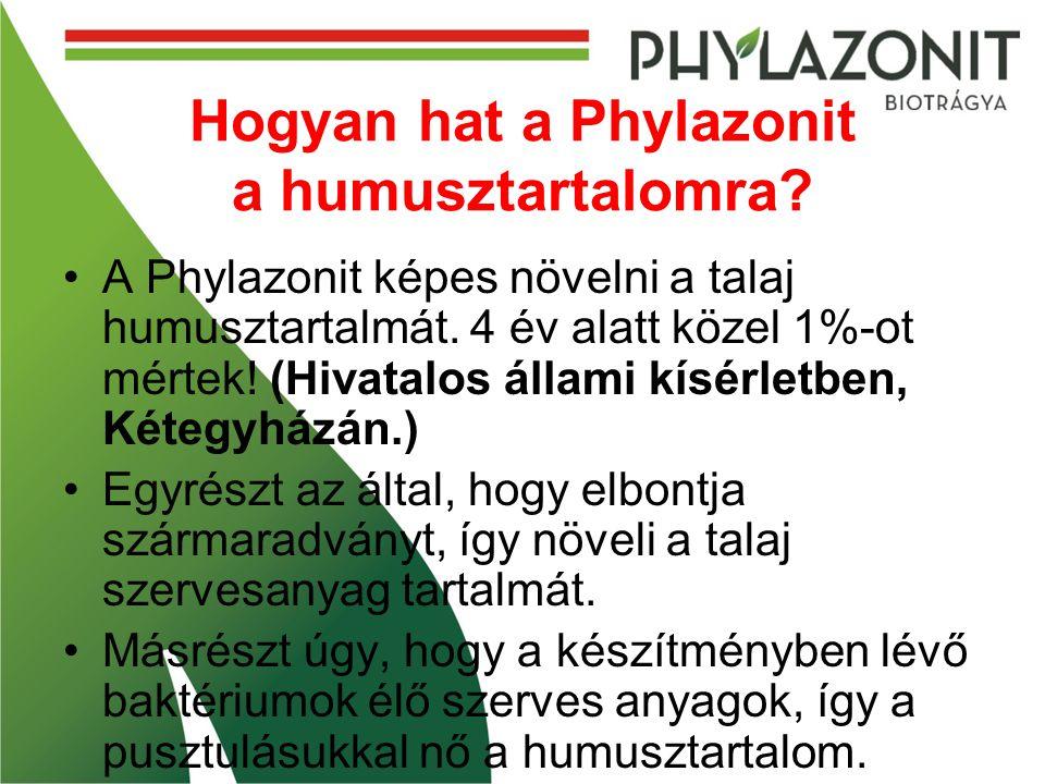 Hogyan hat a Phylazonit a humusztartalomra