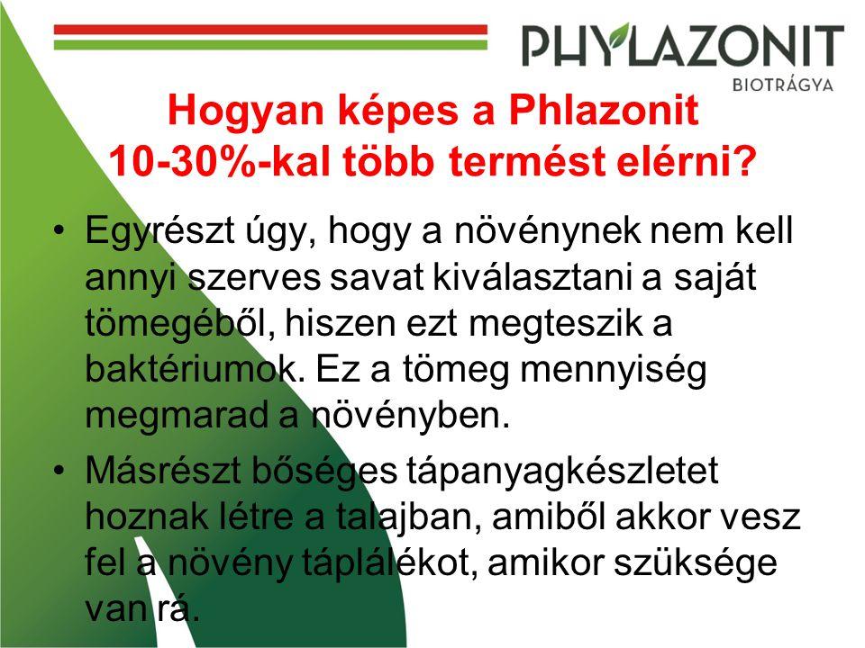 Hogyan képes a Phlazonit 10-30%-kal több termést elérni