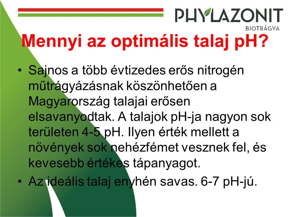 Mennyi az optimális talaj pH