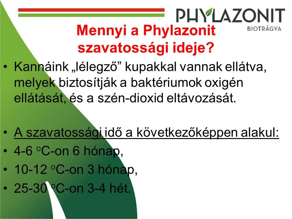 Mennyi a Phylazonit szavatossági ideje