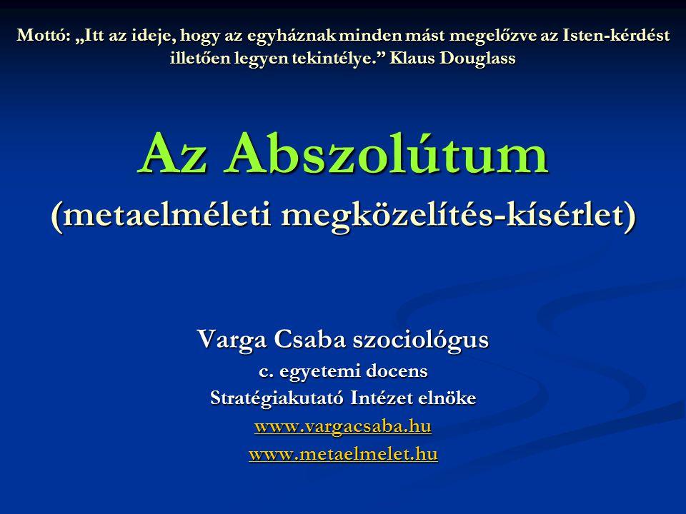 Varga Csaba szociológus Stratégiakutató Intézet elnöke