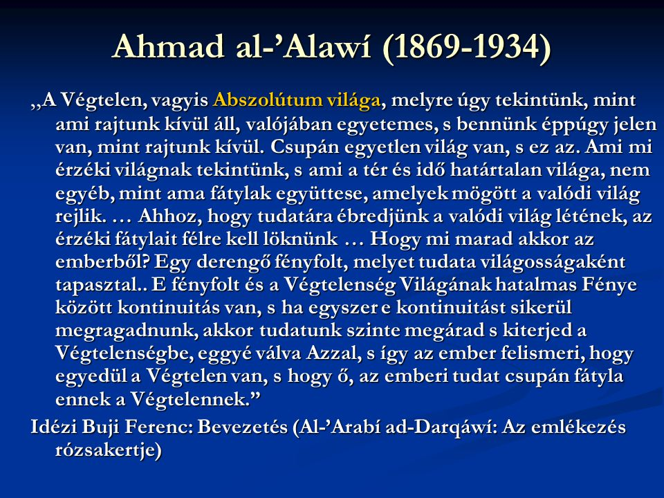 Ahmad al-'Alawí (1869-1934)