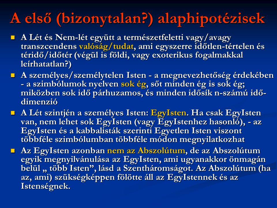 A első (bizonytalan ) alaphipotézisek