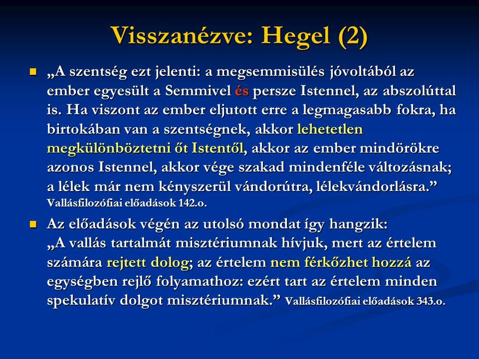 Visszanézve: Hegel (2)