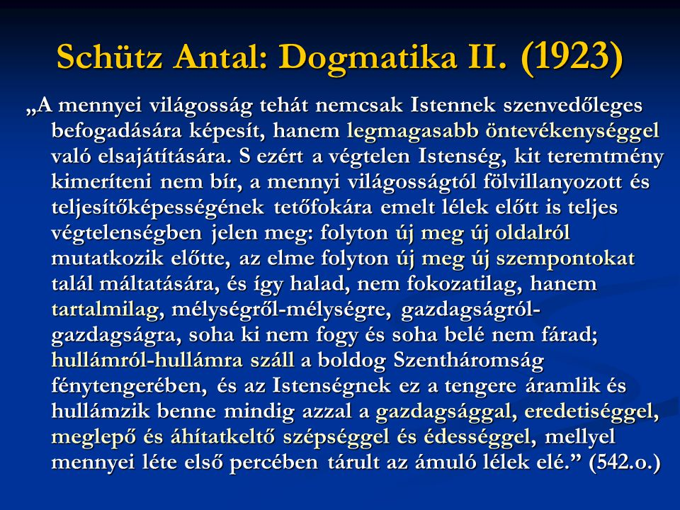 Schütz Antal: Dogmatika II. (1923)