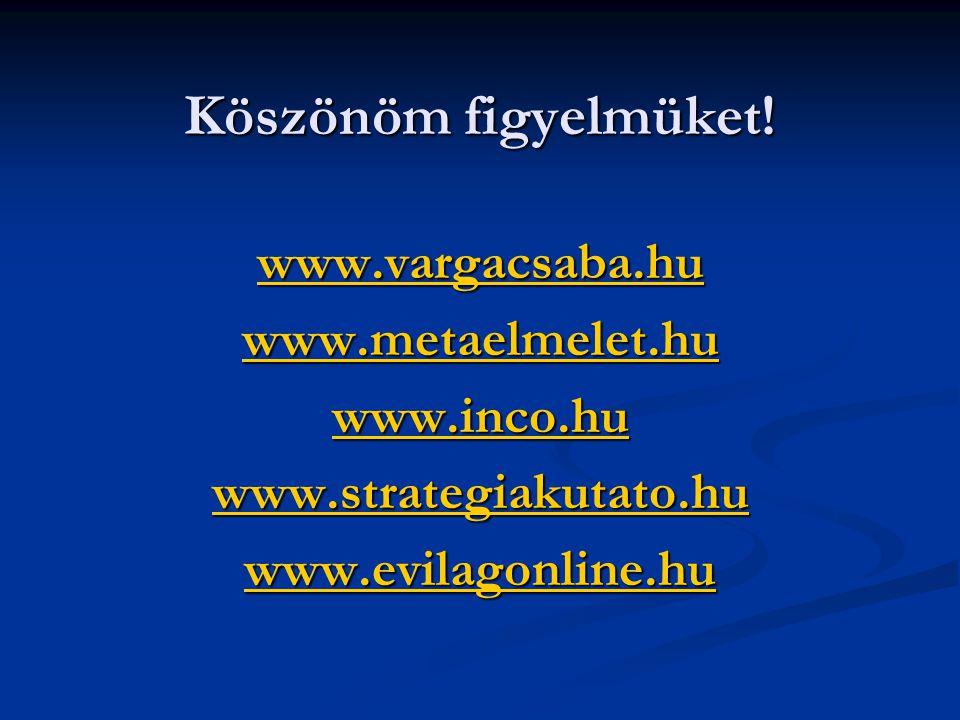 Köszönöm figyelmüket! www.vargacsaba.hu www.metaelmelet.hu www.inco.hu