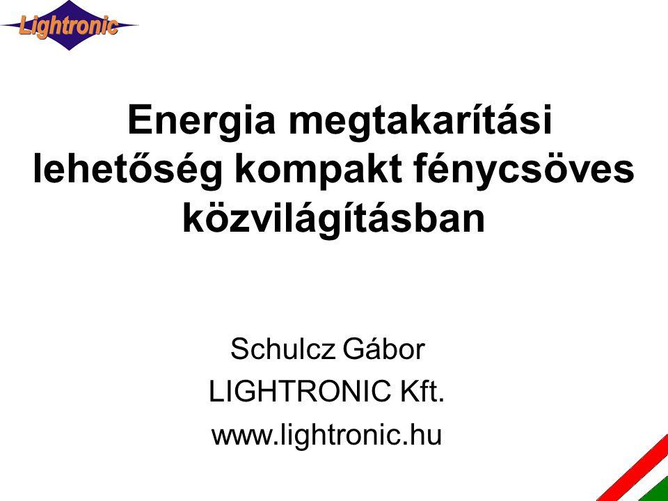 Energia megtakarítási lehetőség kompakt fénycsöves közvilágításban