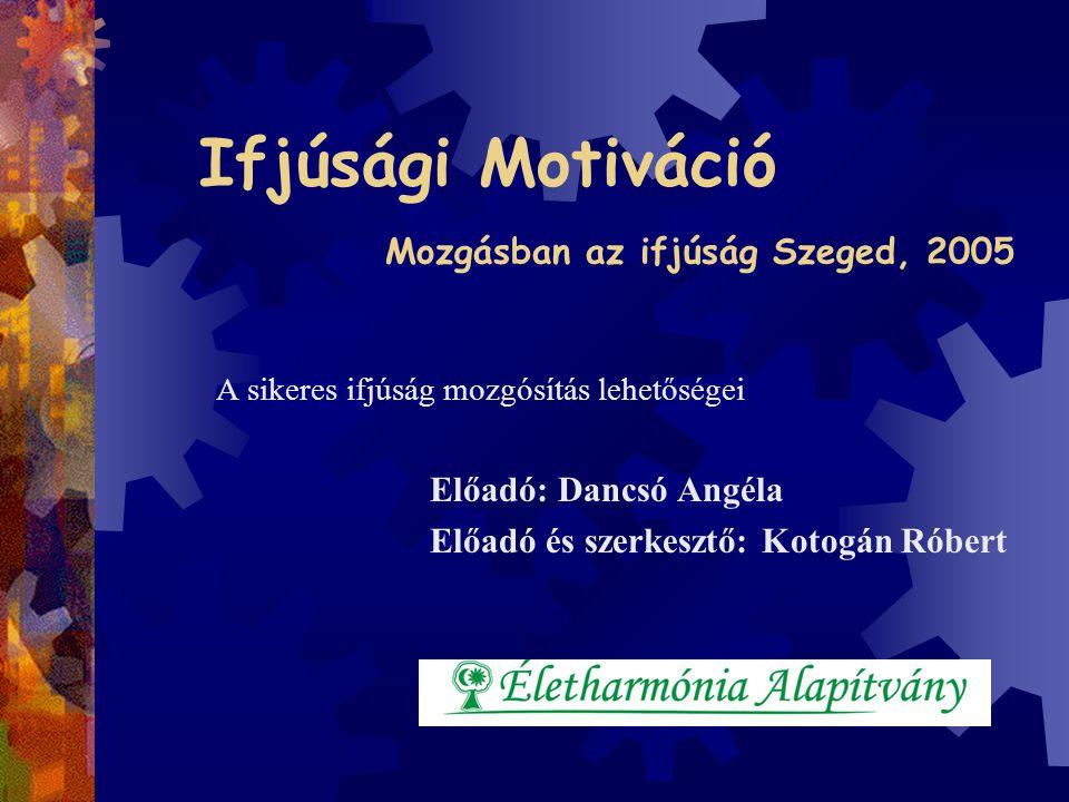 Ifjúsági Motiváció Mozgásban az ifjúság Szeged, 2005