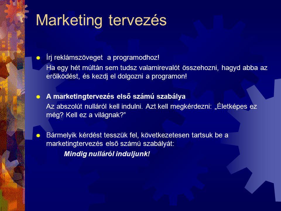 Marketing tervezés Írj reklámszöveget a programodhoz!