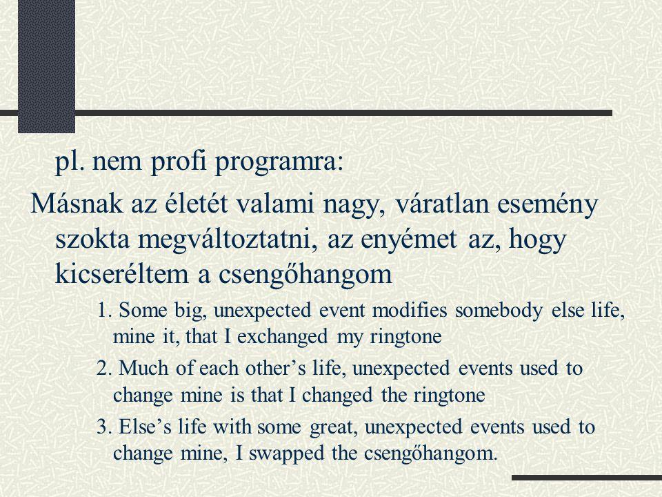 pl. nem profi programra: