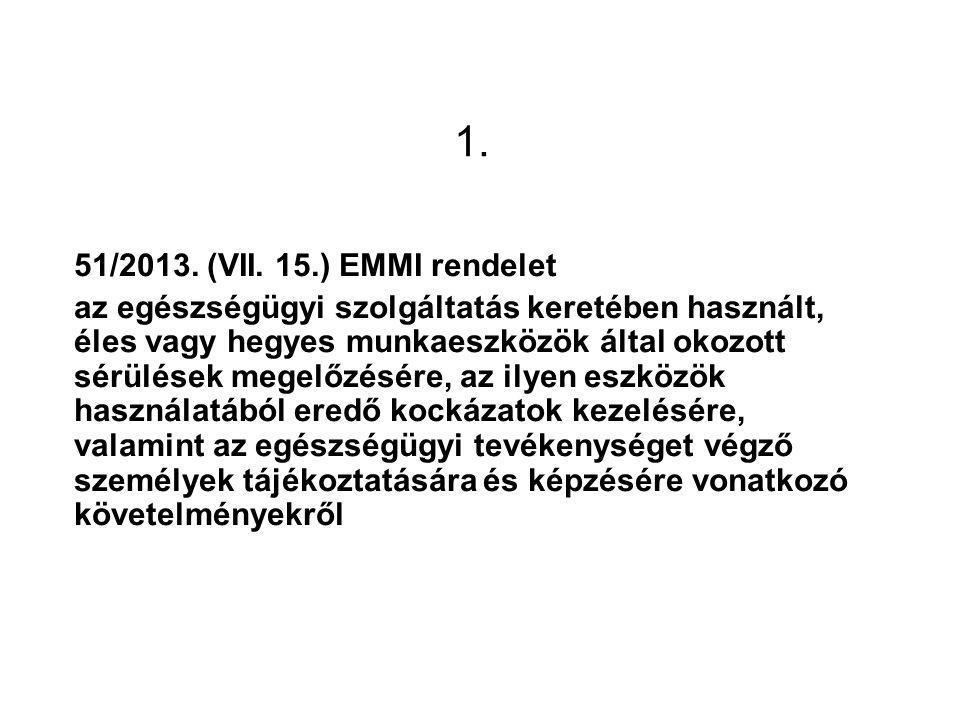 1. 51/2013. (VII. 15.) EMMI rendelet.