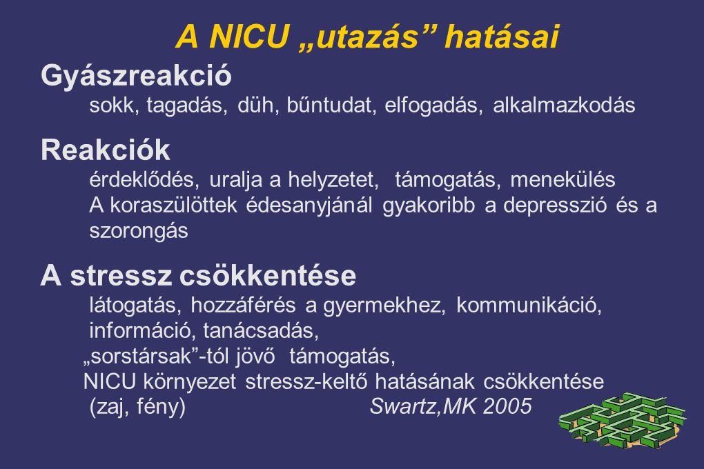 """A NICU """"utazás hatásai"""