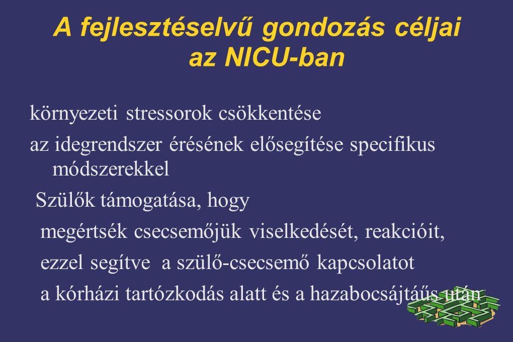 A fejlesztéselvű gondozás céljai az NICU-ban
