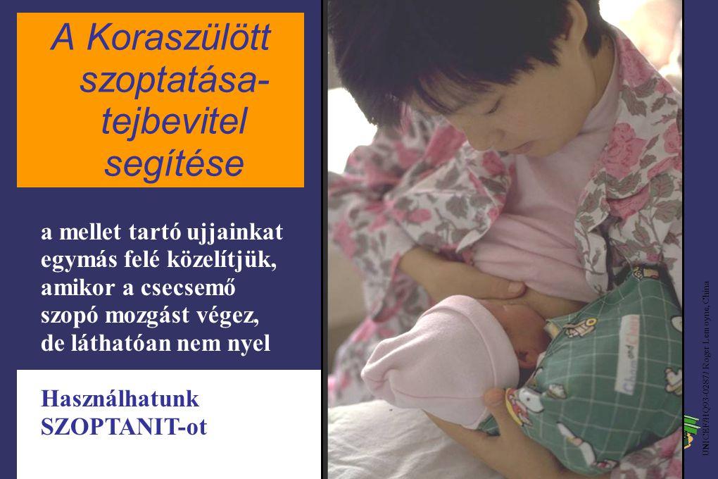 A Koraszülött szoptatása- tejbevitel segítése