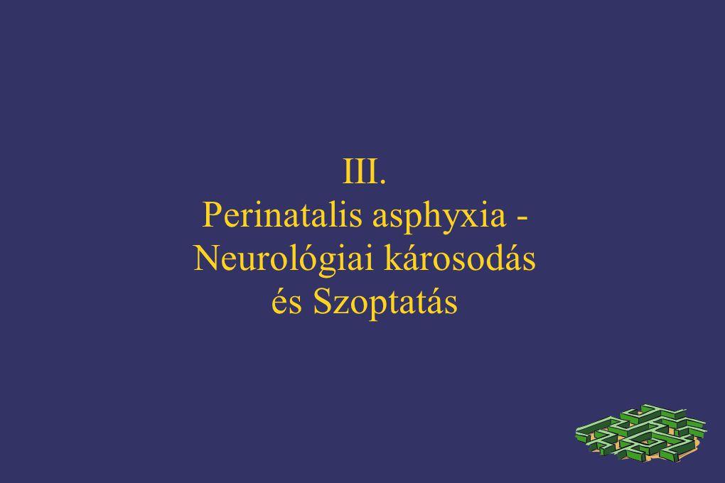 Perinatalis asphyxia - Neurológiai károsodás és Szoptatás