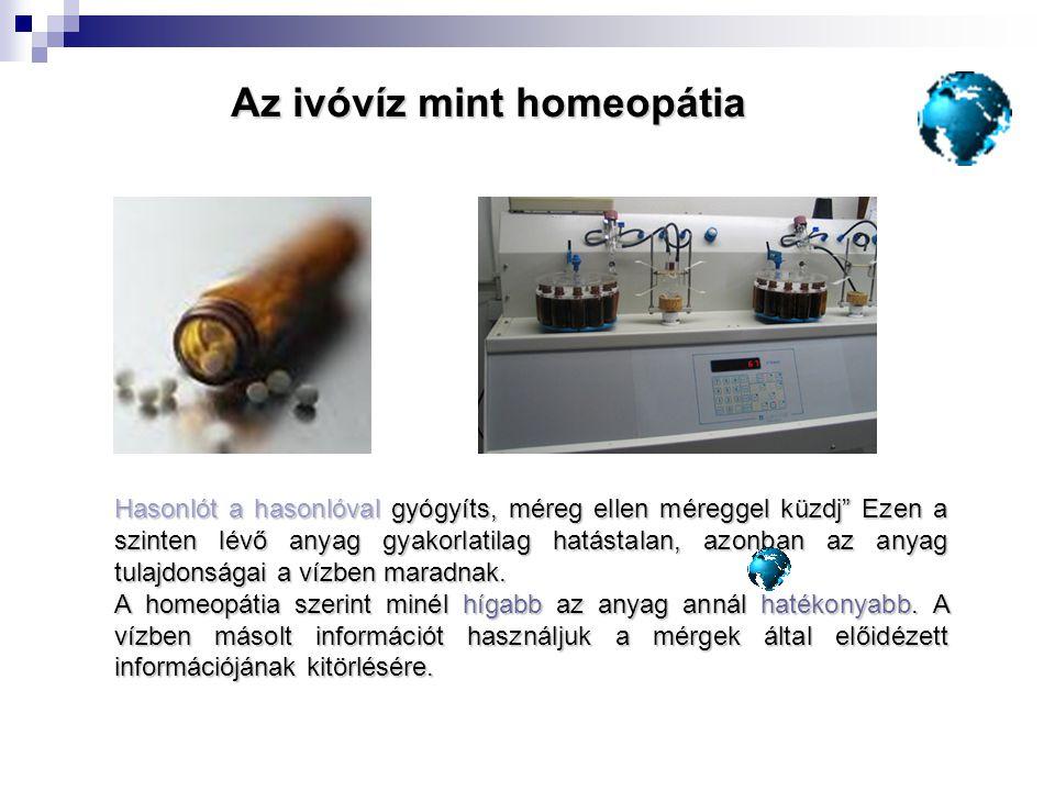 Az ivóvíz mint homeopátia