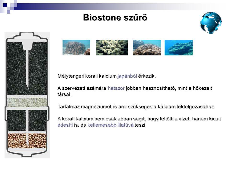Biostone szűrő Mélytengeri korall kalcium japánból érkezik.