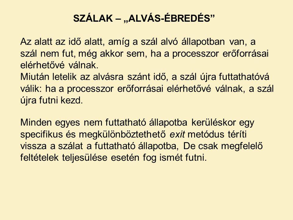 """SZÁLAK – """"ALVÁS-ÉBREDÉS"""