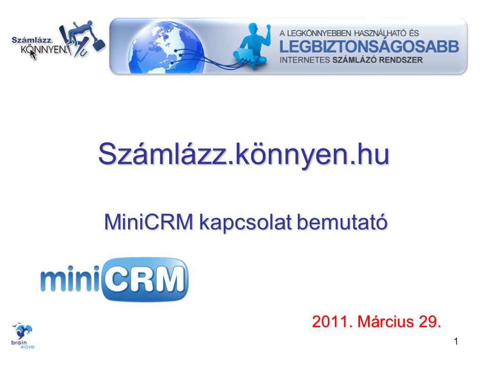 MiniCRM kapcsolat bemutató