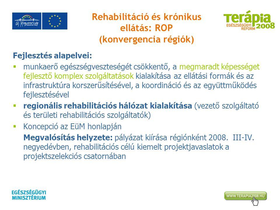 Rehabilitáció és krónikus ellátás: ROP (konvergencia régiók)