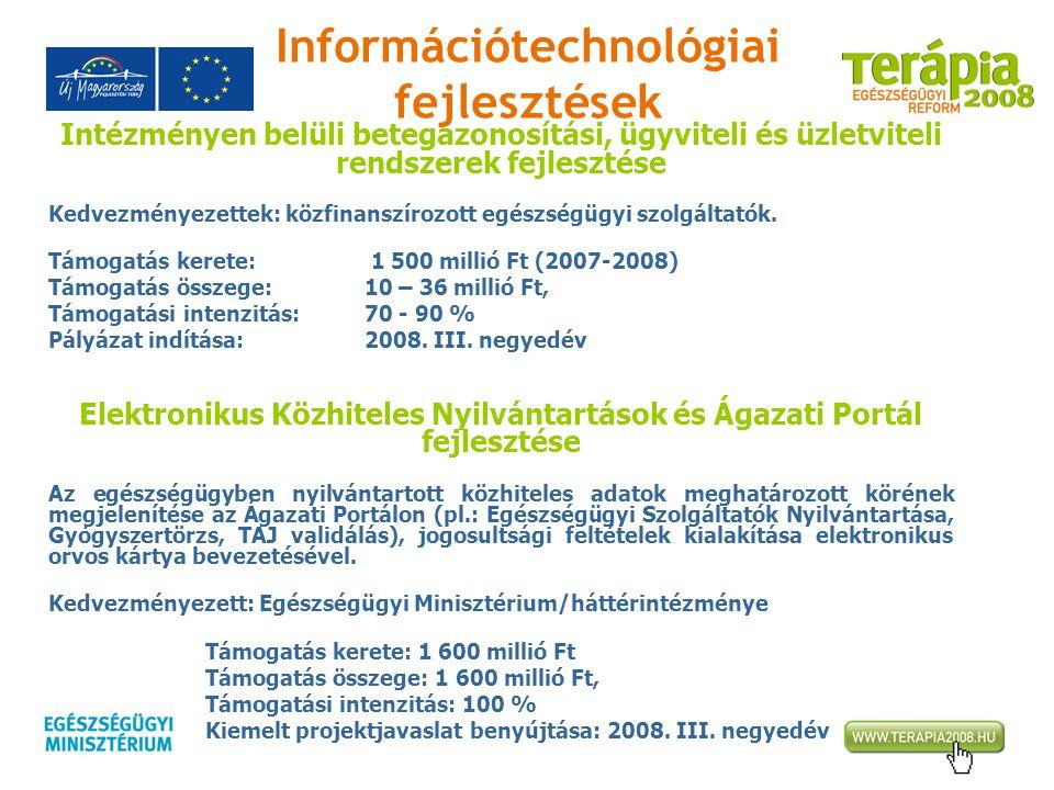Információtechnológiai fejlesztések